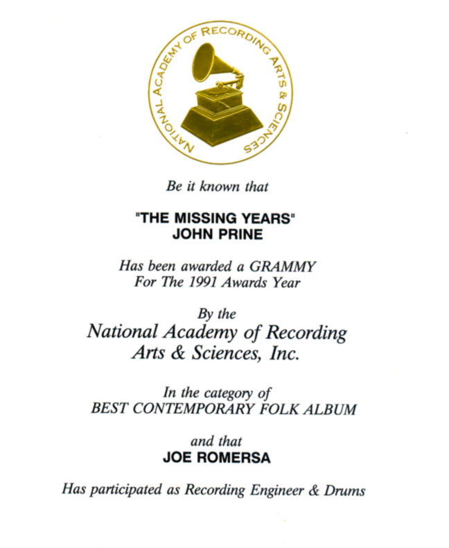 Joe's Grammy